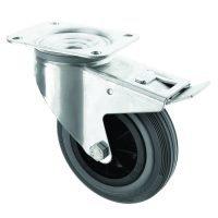 150mm Braked Swivel Plate Fixing Castor