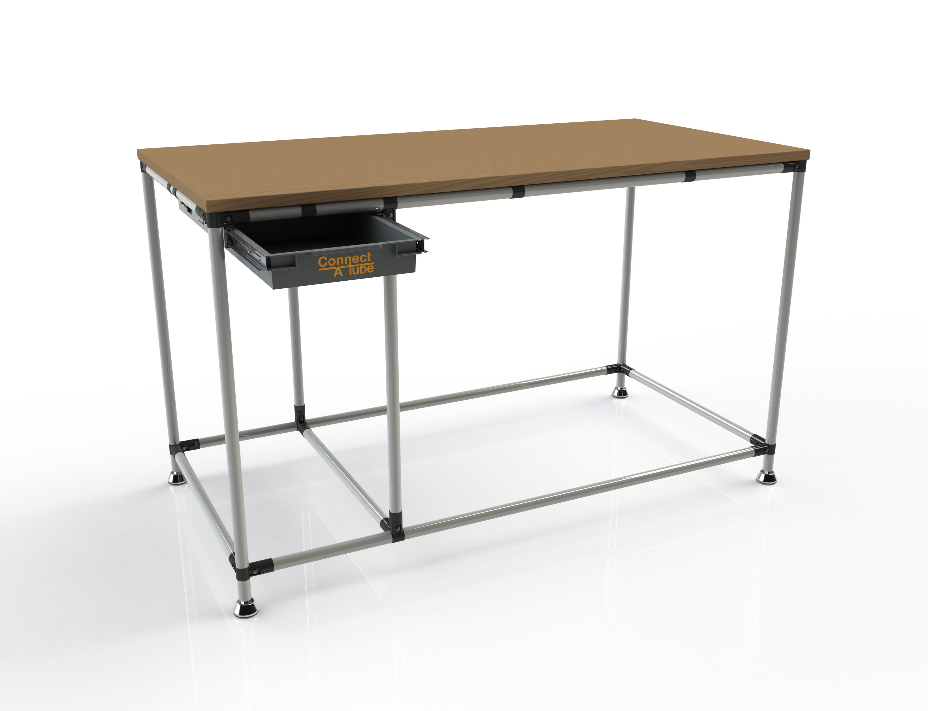 Stainless steel frame industrial workstations